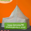 Canopy electrosmog PRO all-inclusive grounding set - pyramid for single bed