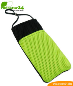 Cell phone cover and case eWall with radiation protection, 3-in-1 function, reversible, black-green