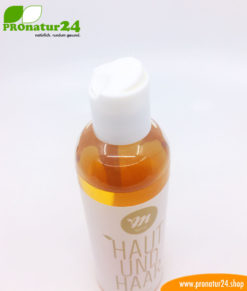 """""""All-in-one"""" Skin and Hair shampoo by UNI SAPON. With a fresh orange fragrance."""