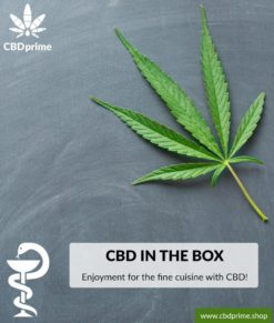 "CBD BOX ""Enjoyment for fine cuisine with CBD!"". Exclusive to CBDprime worldwide!"