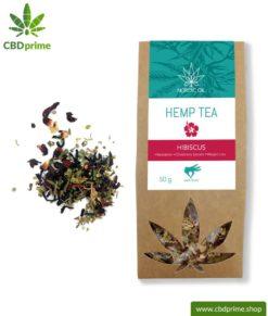 CBD hemp tea with hibiscus, 50 grams with 0.6% cannabidiol share