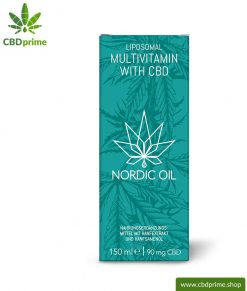 Liposomal multivitamin with CBD (90 mg CBD). Ideal for one month with 30 servings of 3 mg CBD each.